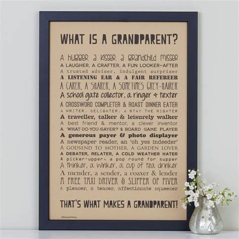 a poem personalised grandparent print with grandparent poem by