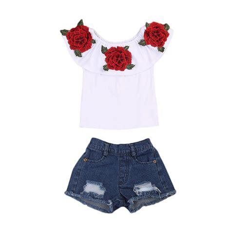 aliexpress buy flower tops t shirts denim shorts