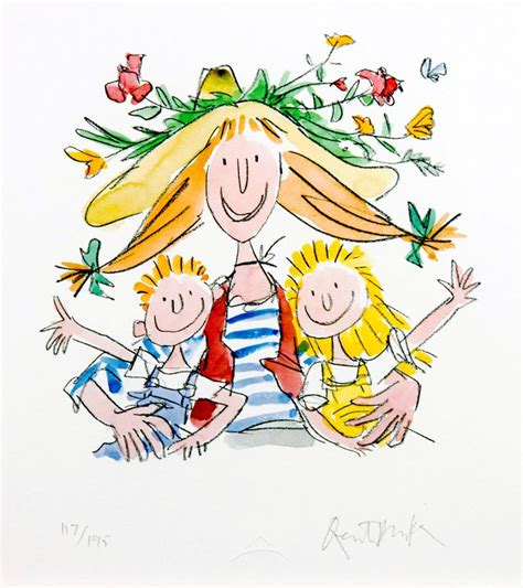 fantastic daisy artichoke quentin blake 2005 giclee signed limited edition