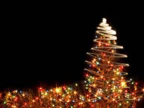 Christmas tree light background christmas tree lights ppt