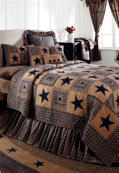 ihf home decor vintage star navy by ihf home decor beddingsuperstore com
