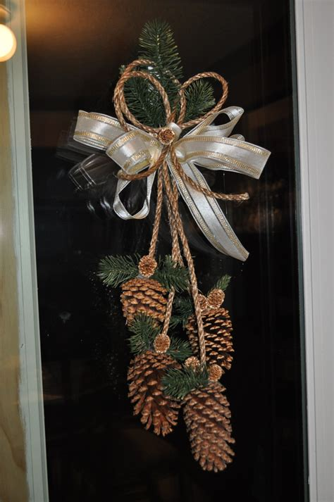 Pine Cone Door Decoration by Gold Pine Cone Door Decoration Holidays Ideas Crafts
