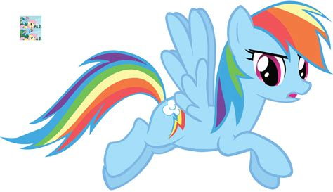 rainbow dash flying vector