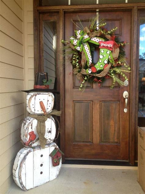 gartendeko selbstgemacht holz gartendeko aus holz zu weihnachten selber machen