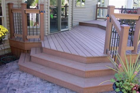 deck and sted concrete patio easy home decorating ideas