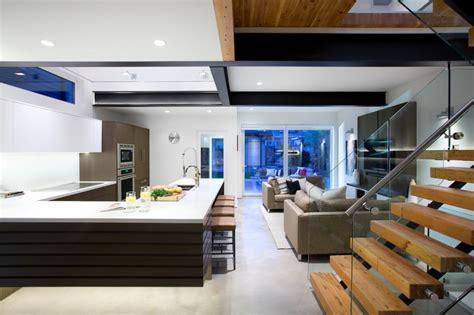 Modern Lake House Plans by Fachada De Casa Moderna De Dos Pisos Y Dise 241 O De