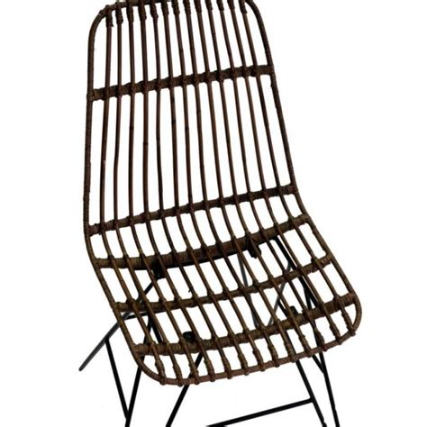 rattan sedie sedia in rattan e metallo marrone