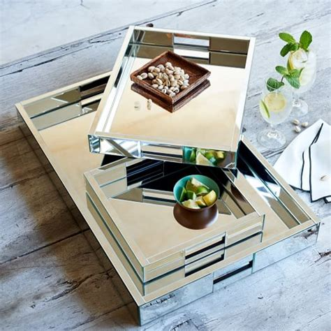 Small Serving Center 2 mirror trays west elm