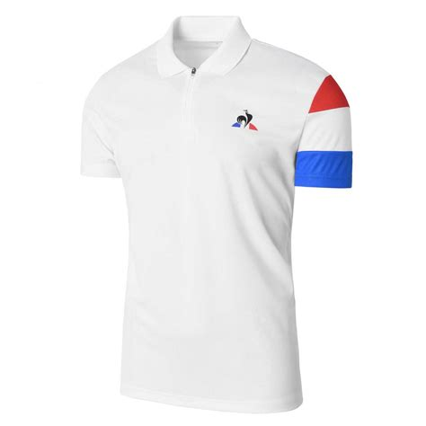 Kaos Le Coq Sportt Shirt mens le coq sportif clothing polo richard gasquet white aiccsy