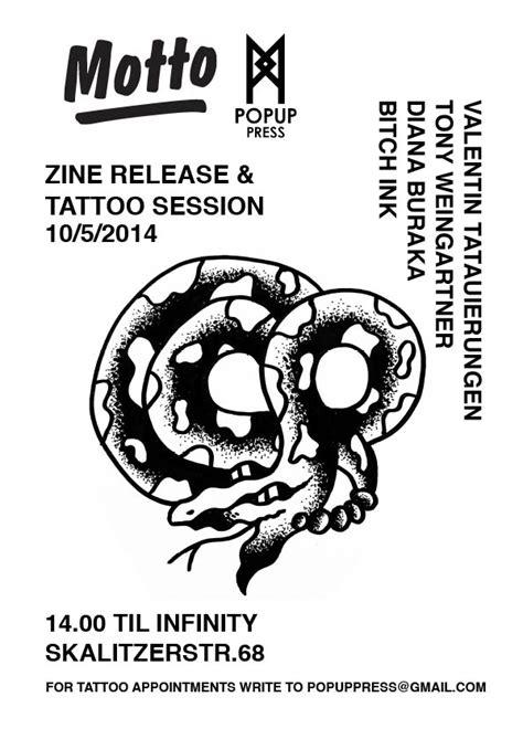 tattoo flash zine motto distribution 187 popup press
