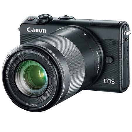 Canon Eos M100 Mirrorless Kit 15 45mm Is Stm canon eos m100 mirrorless ef m 15 45mm 55 200mm