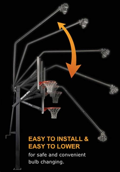 goalrilla b2414 deluxe basketball hoop light