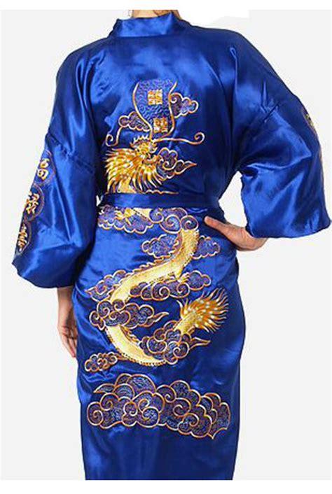 17065 Retro Pattern S M L Sale Dress sale blue s silk satin bathrobe embroider kimono gown vintage pattern