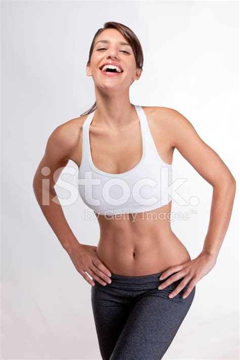 Female Bedroom Ideas happy laughing thin woman with abs stock photos