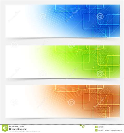 bright web headers templates colorful collection stock