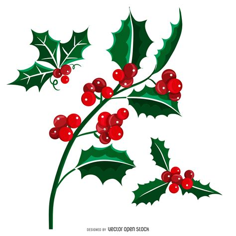 clipart capodanno vischio natale mistletoe vettoriali gratis