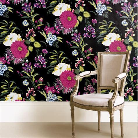black and white floral wallpaper b q wallpaper black floral b q wallpaper under 163 30
