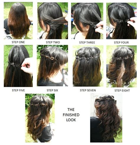 waterfalls cascade braids step by step step by step how to waterfall braid step by step