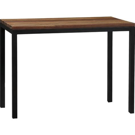 parsons kitchen table parsons reclaimed wood top steel base 48x28 high