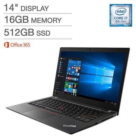lenovo thinkpad t480s laptop i7 8550u 16gb ram 512gb ssd 14 quot hd display walmart