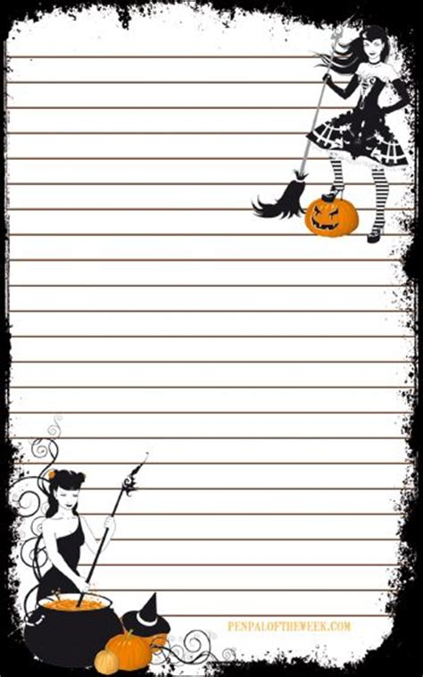 printable halloween stationery paper 103 best halloween stationery images on pinterest