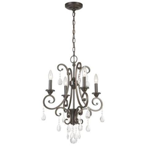 Small Chandelier Lights Hton Bay 4 Light Rubbed Bronze Small