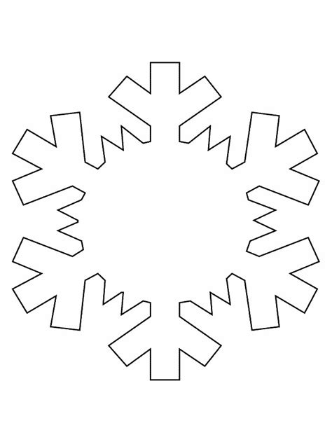 blank snowflake template printable snowflake coloring pages az coloring pages