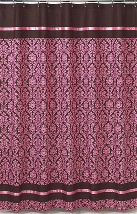 pink and brown shower curtains pink and brown bella kids bathroom fabric bath shower