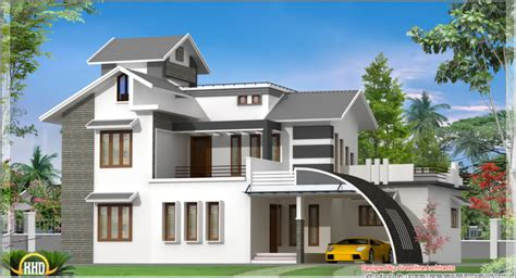 home design house home design contemporary india house plan sq ft kerala