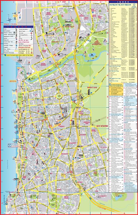 tourist attractions map tel aviv tourist attractions map