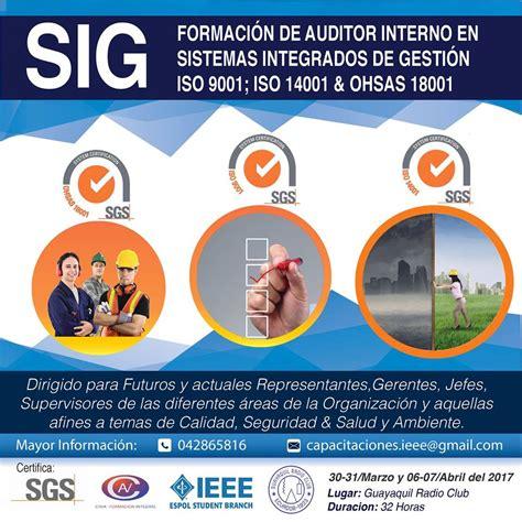 auditing interno certificaci 243 n en formaci 243 n de auditor interno en sistemas