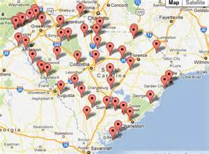 map of carolina state parks south carolina parks seek self sufficiency woodall s