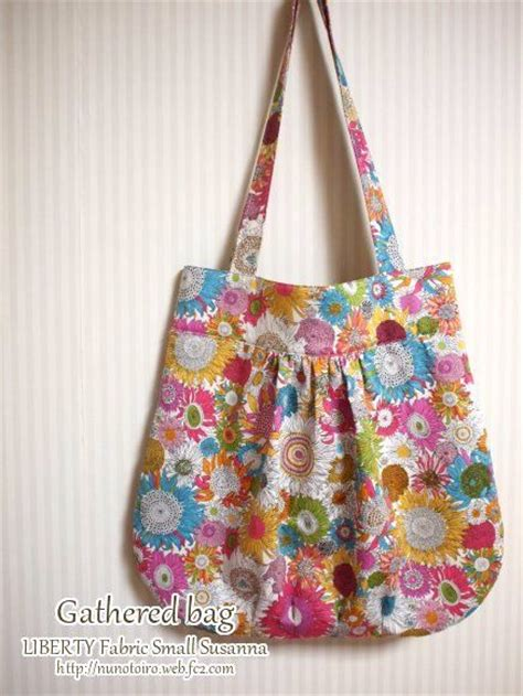 gathered tote bag pattern how to make gathered tote totes and bags pinterest