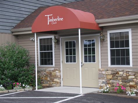 entrance awnings canvas entrance awning with uprights strasburg pa