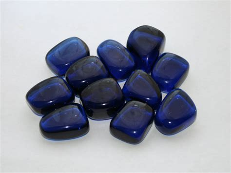 blue obsidian tumbled cobalt blue obsidian