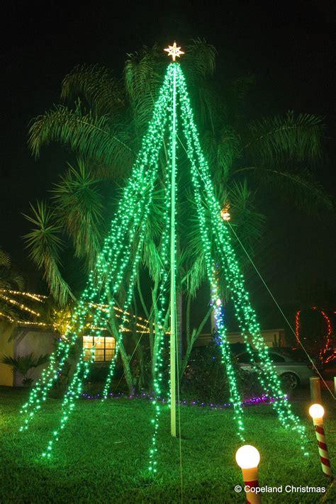 flagpole tree lights copeland
