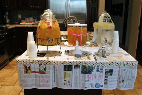 newspaper themed party newspaper themed bridal shower