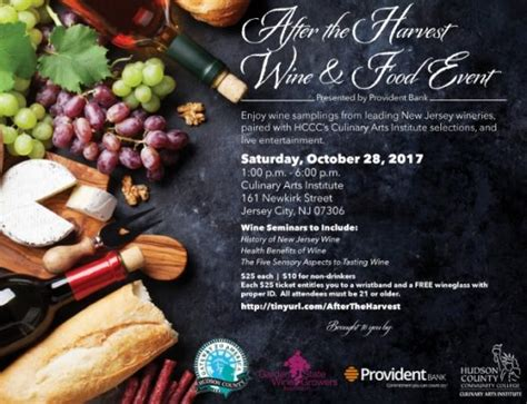 Garden State Wine Growers Festival 2017 Culinary Arts Institute At Hudson County Community College