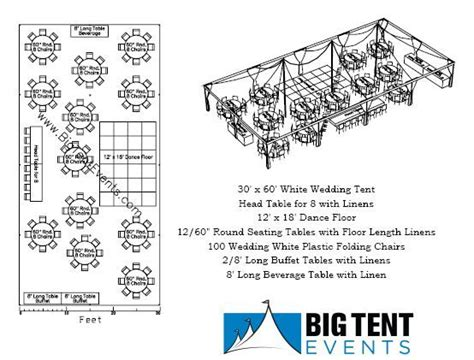 tent wedding layout ideas 30 x 60 pole tent seating 100 chart wedding likes
