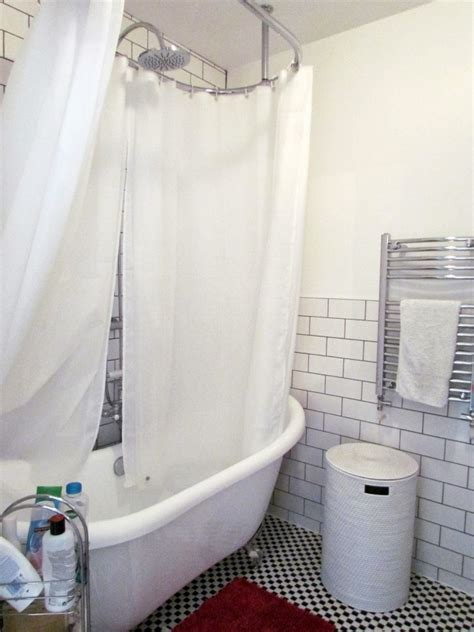 over bath shower curtain installation of a circular shower rod the homy design