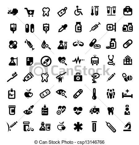 clip art de vectores de conjunto salud icono vector clip art de vectores de grande m 233 dico conjunto iconos