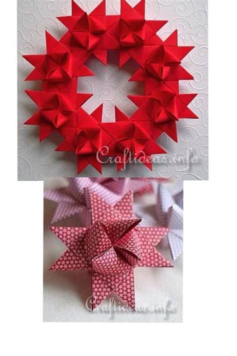 Step By Step Paper Craft - how to make beautiful german wreath paper craft step