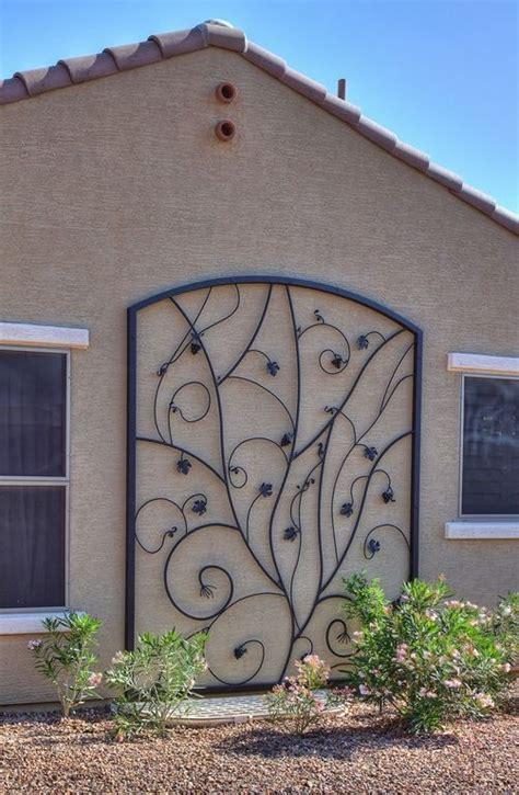Vineyard Trellis Iron Artwork Firstimpressions My First Garden Wall Trellis Metal
