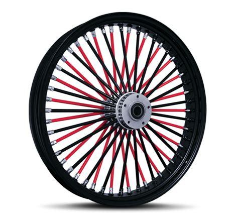 black spokes chrome motorcycle wheel custom rims