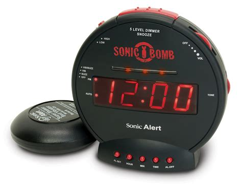 sonic bomb alarm clock  bed shaker alarm clocks