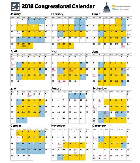 Congressional Calendar 2018 Congressional Calendar Senators Plan More Work Days