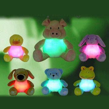 Novelty Plush Bunny Light Up Toys Battery Operated On