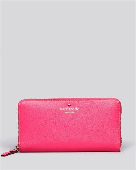 Kate Spade Mikas Pond kate spade wallet mikas pond in pink zinnia pink