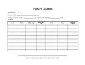 Truckers Log Book Template truck driver log book exles