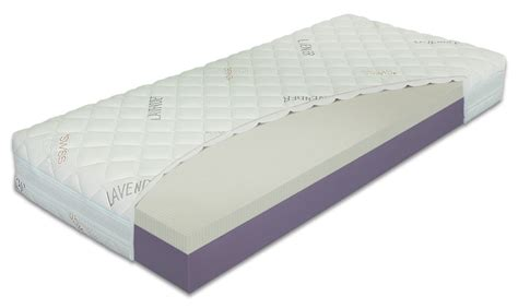 matratze 150x200 mattress 21 cm with lavender cover and talalay and